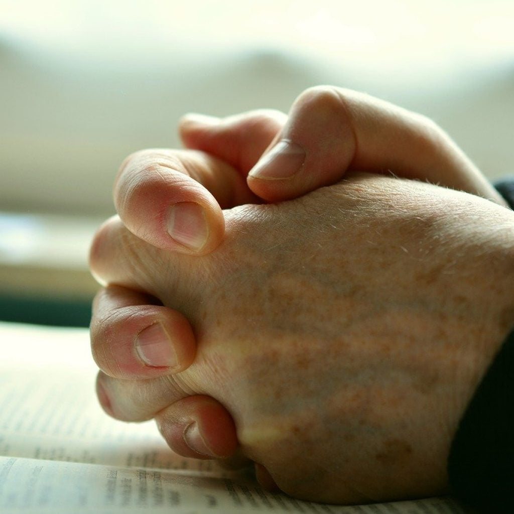 Hope and Pray Folding Hands